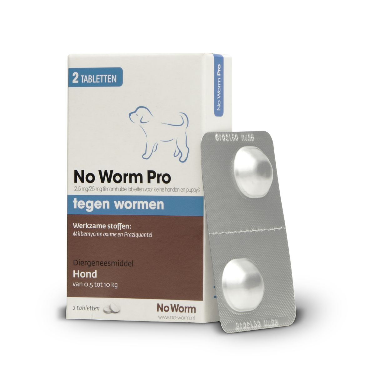 No worm pro wit/bruin 2 tabl