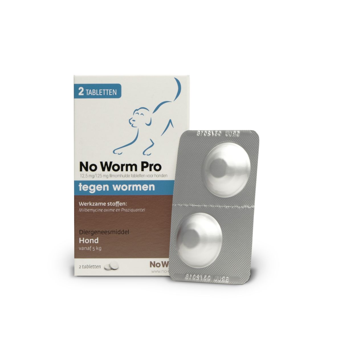 No worm pro hond wit/bruin 2 tabl