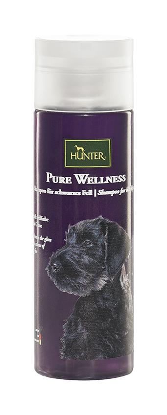 Hunter - pure wellness zwarte vacht shampoo paars 200 ml