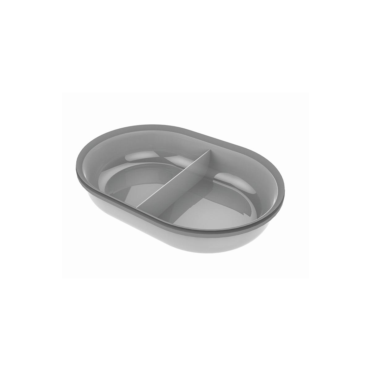 Surefeed - gedeelde kom voor de microchip voerbak grijs