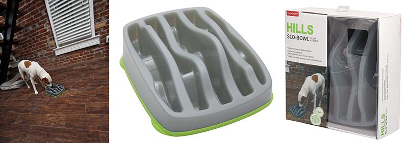 Productafbeelding voor 'Slow bowl feeder hills grijs 1 st'