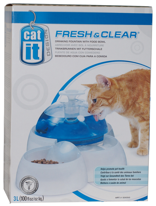Cat-it - drink fontein wit/blauw 3 liter