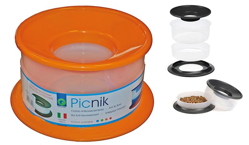 Plastic eet en drinkbak picknik oranje