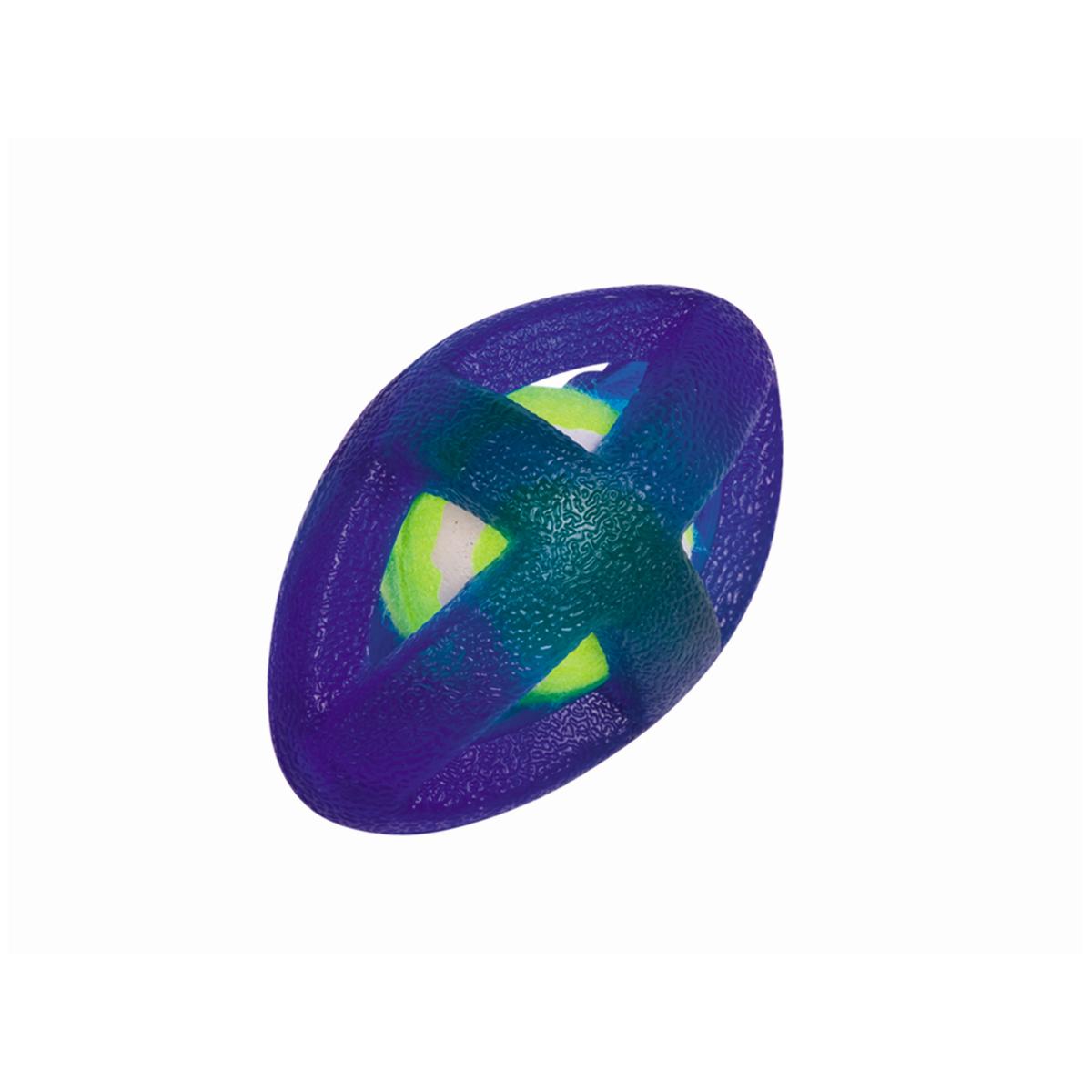 Tpr rugby bal met tennisbal blauw