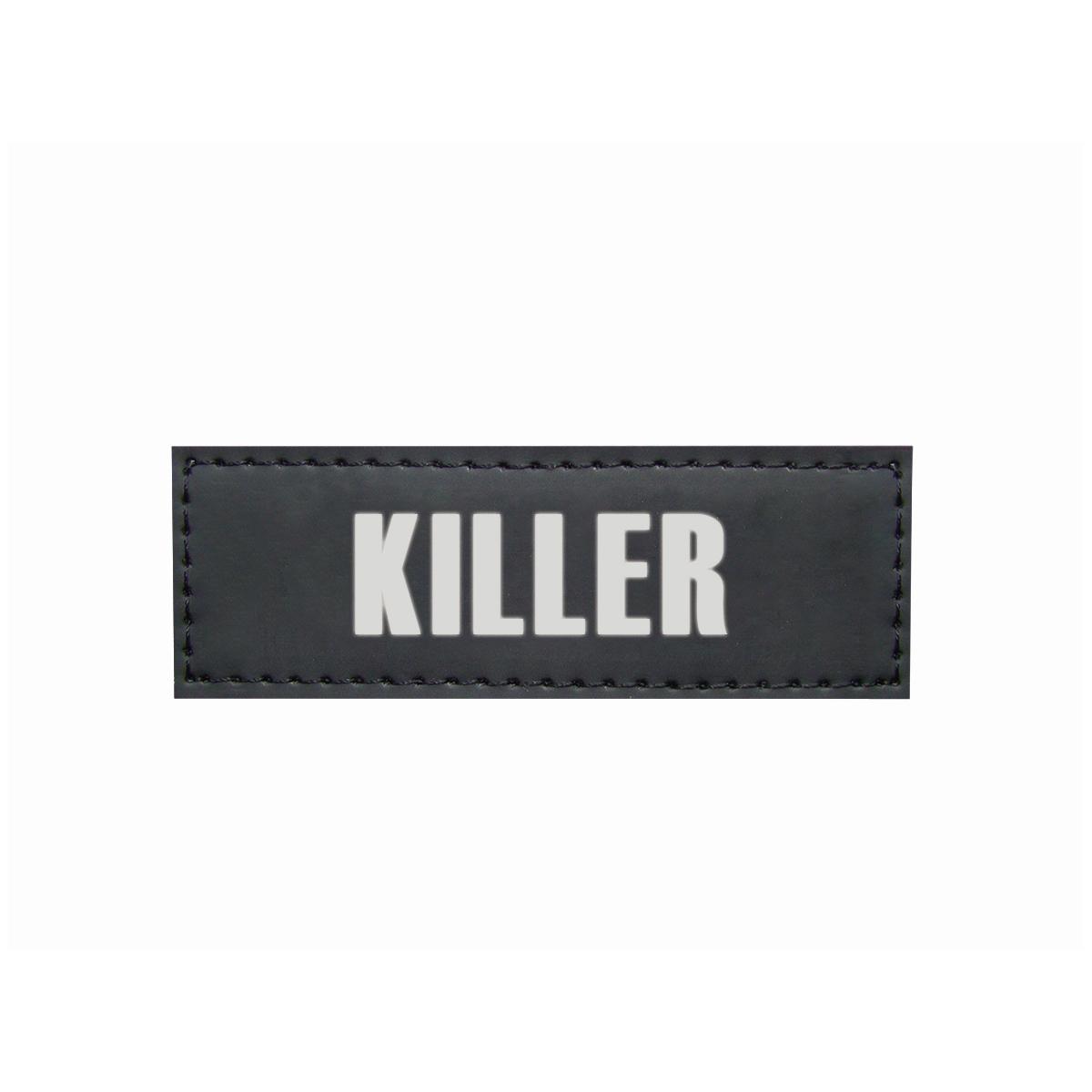 Sticker killer voor hondentuig seguro zwart