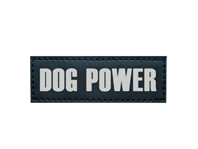 Sticker doggy power voor hondentuig seguro zwart