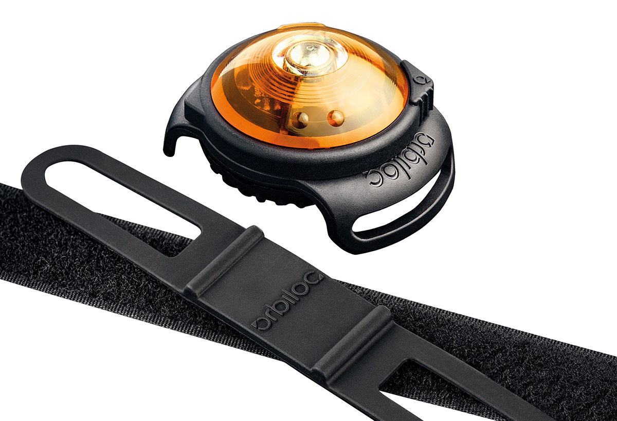 Orbiloc - dog dual safety light geel