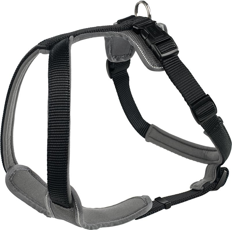 Hunter - neopren tuig nylon zwart, neopren grijs