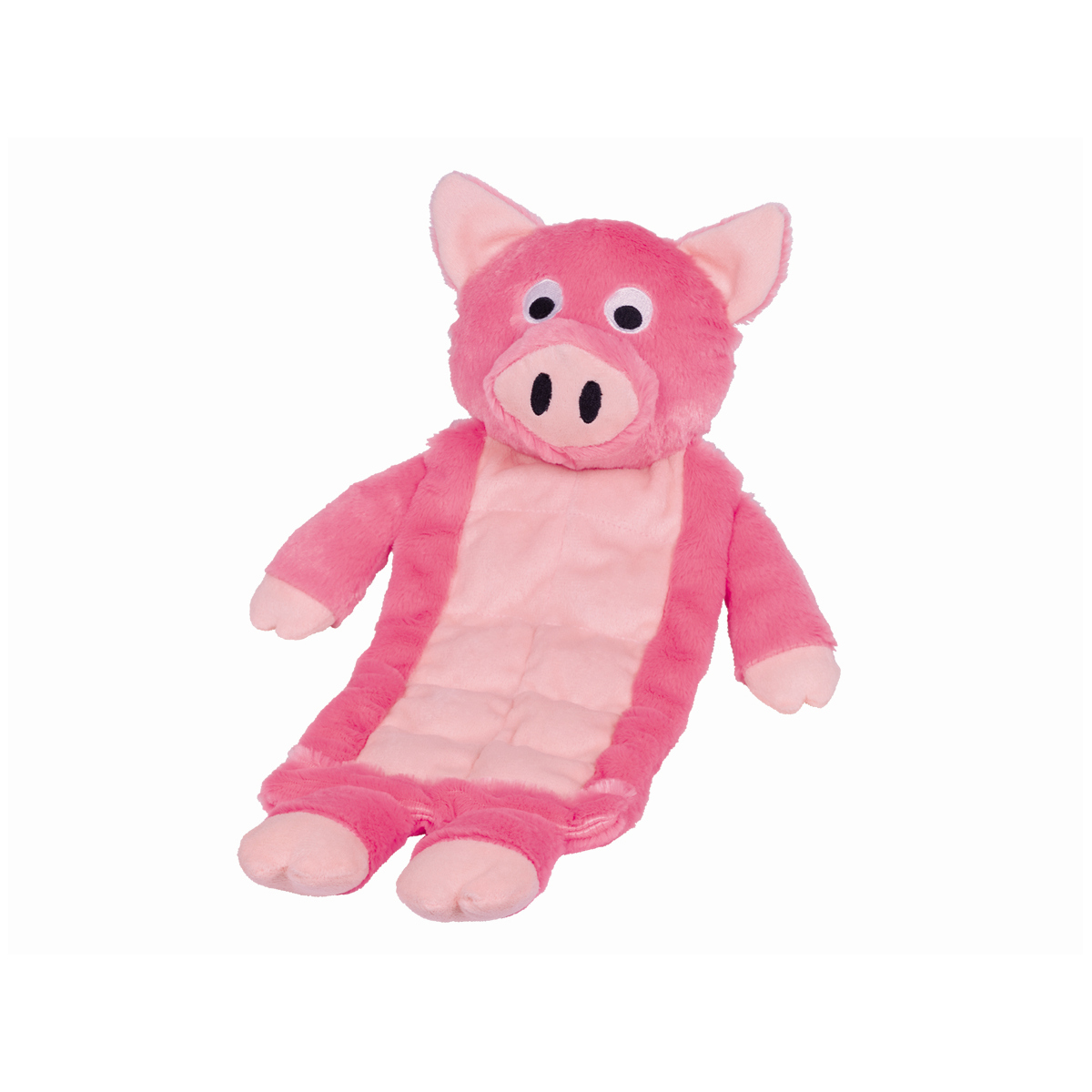 Pluche plat varken roze