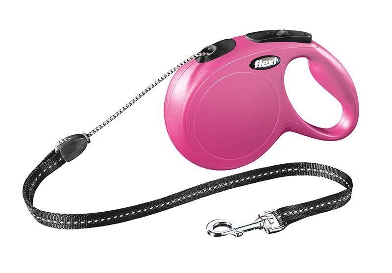 Flexi - new classic cord m - 8 m roze