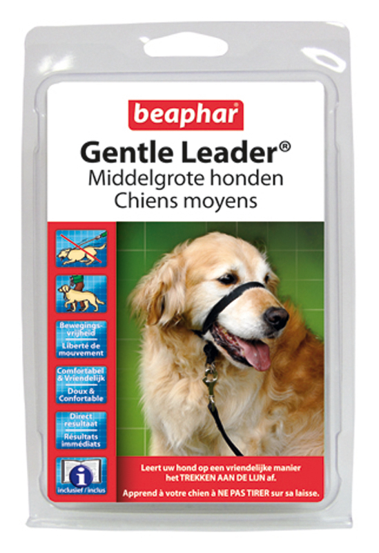 BEA GENTLE LEADER ZWART MEDIUM 00001