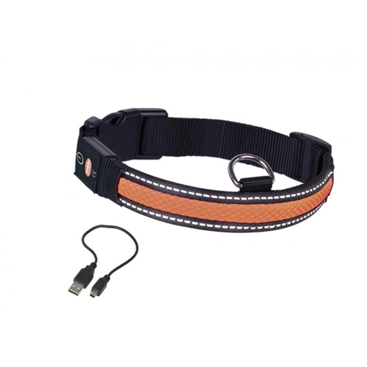 Nobby - halsband verlicht oranje