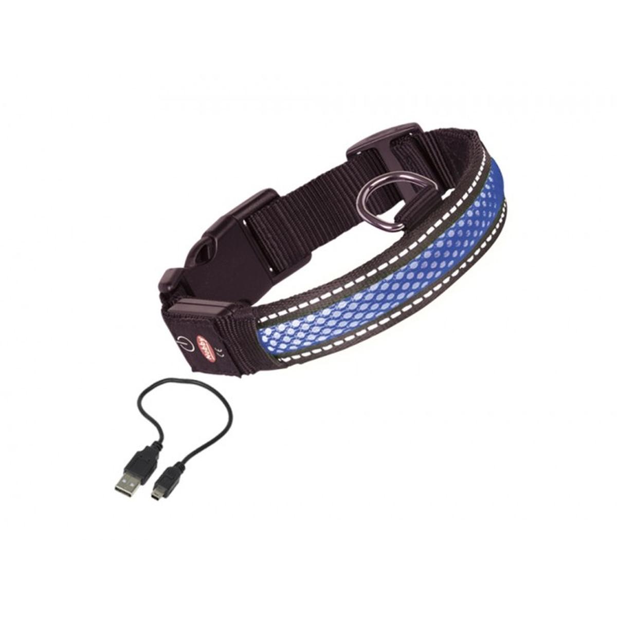 Nobby - halsband verlicht blauw