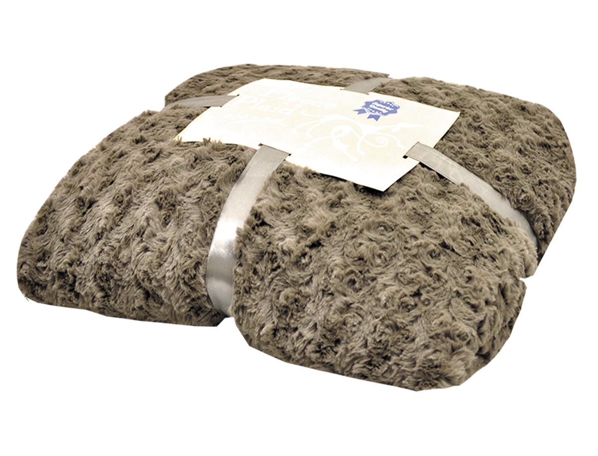 Nobby - deken modern donkerbruin