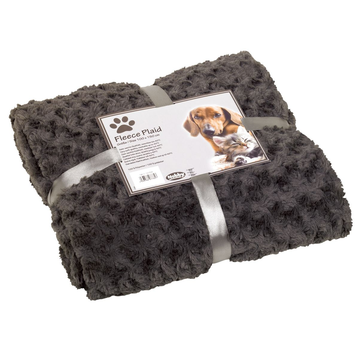 Nobby - deken modern donkergrijs