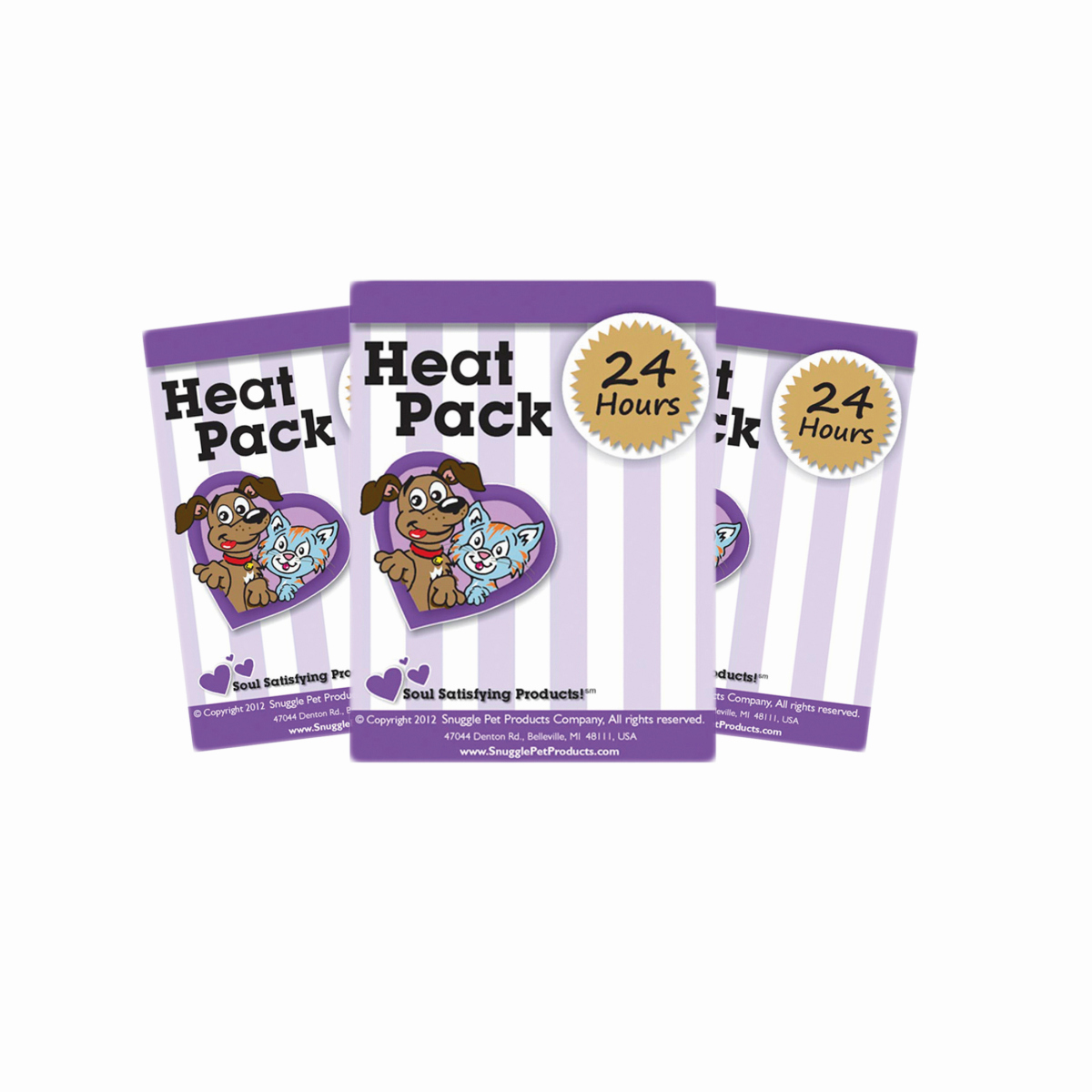 Snuggle puppy heat pack paars 3 st