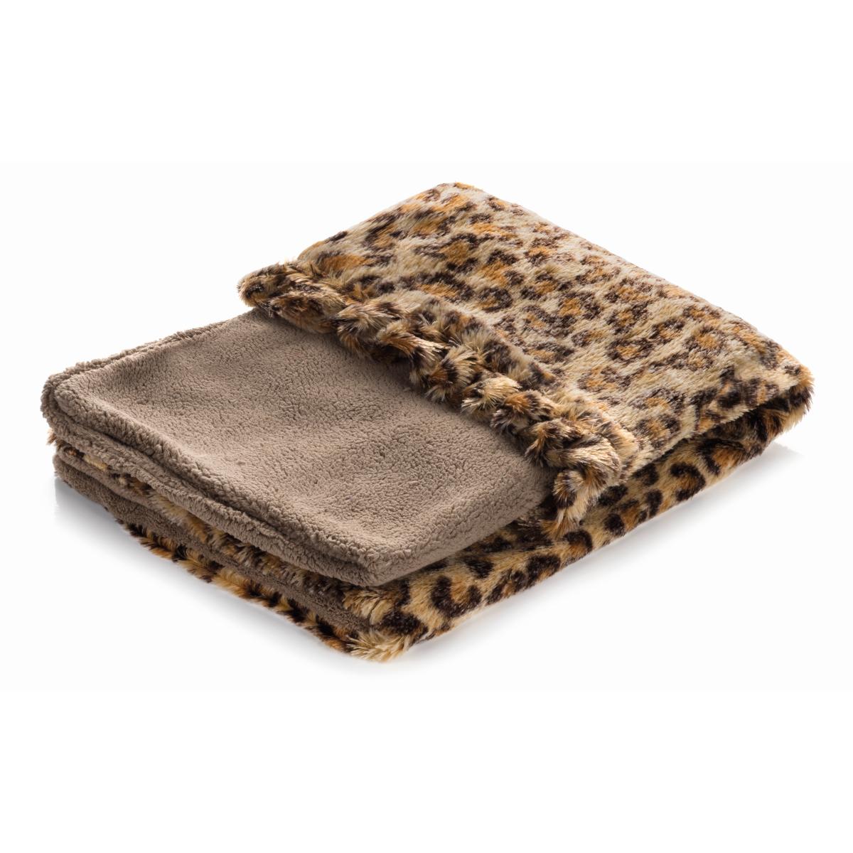 Smart pet love - snuggle bed bruin met luipaard motief