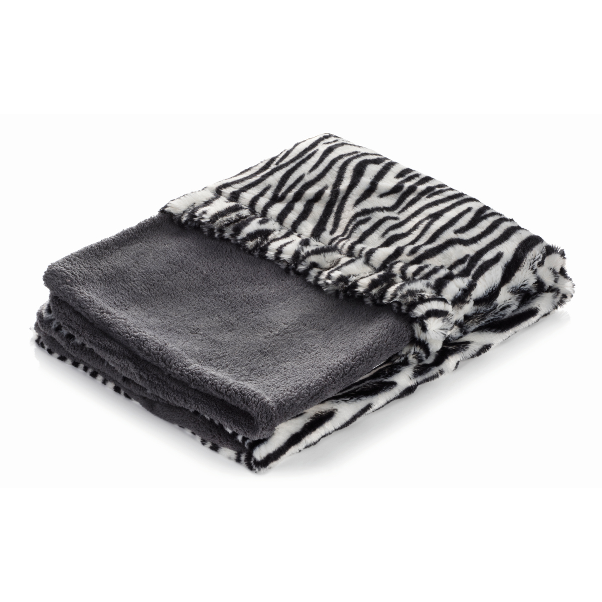 Smart pet love - snuggle bed grijs met zebra motief