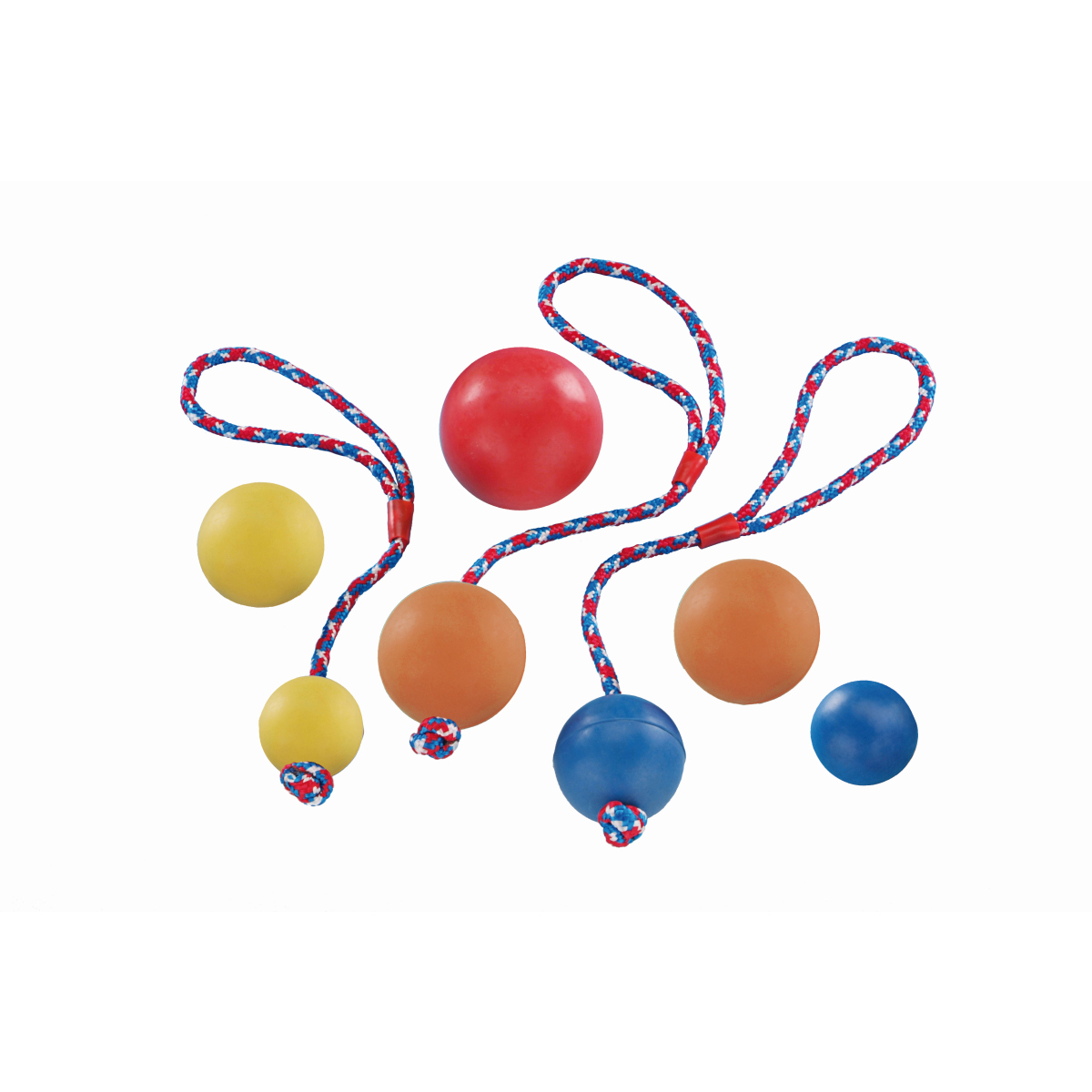 Nobby - rubber bal meerkleurig