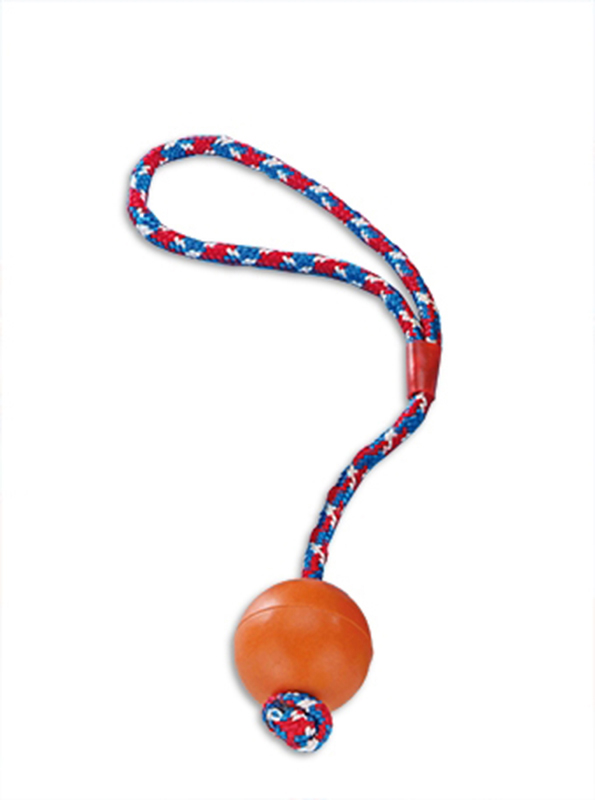 Nobby - rubber bal met touw mix