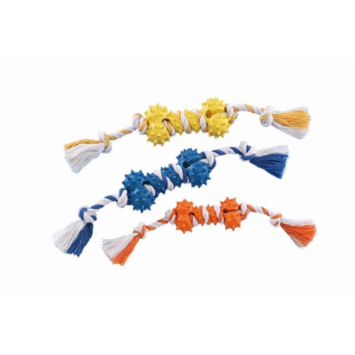 Dog toy rubber been meerkleurig