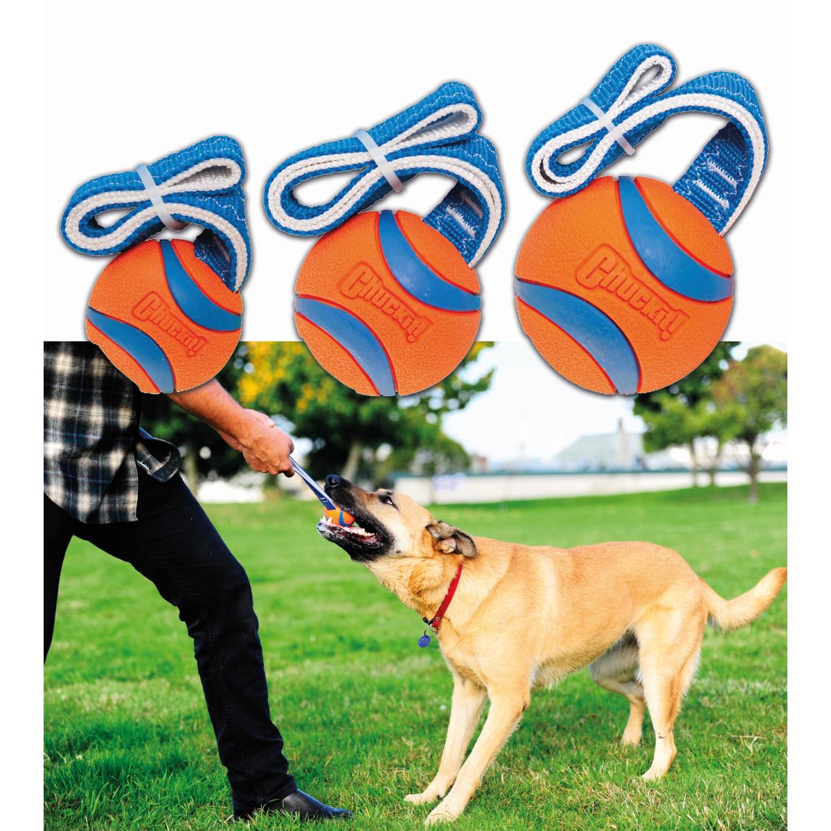 Chuckit - ultra tug oranje/blauw