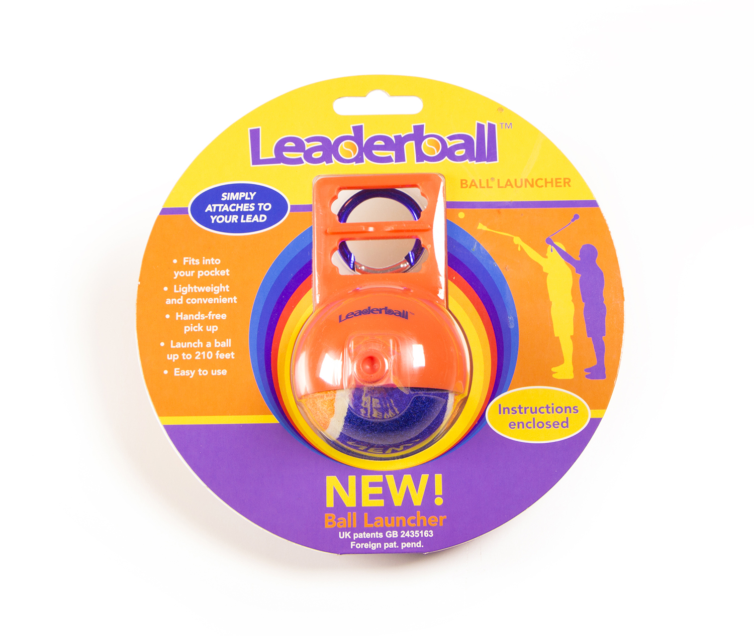 Leaderball ball launcher rood