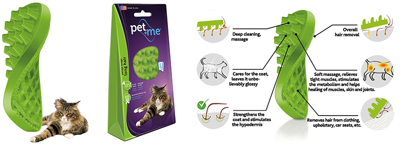PET+ME CAT LONG HAIR BRUSH 00001