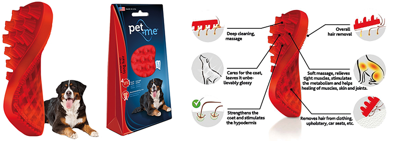 PET+ME DOG LONG HAIR BRUSH 00001