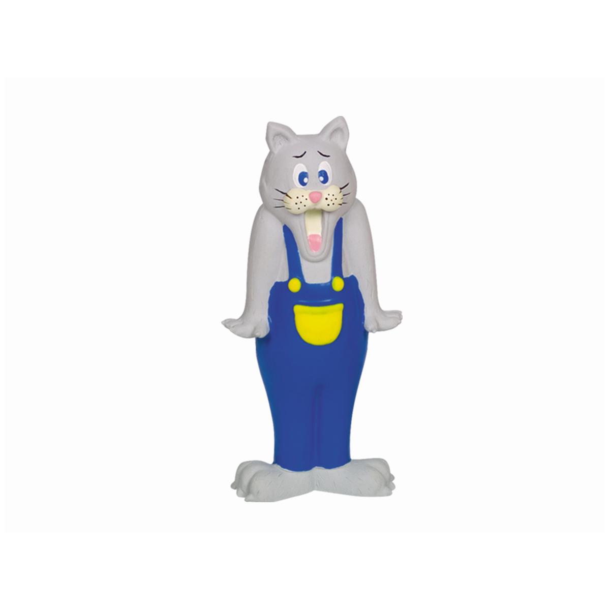 Staande kat grijs/blauw