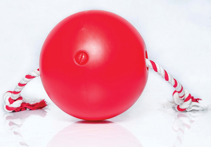 TUGGO DOG TOY BALL ROOD 18CM 00001