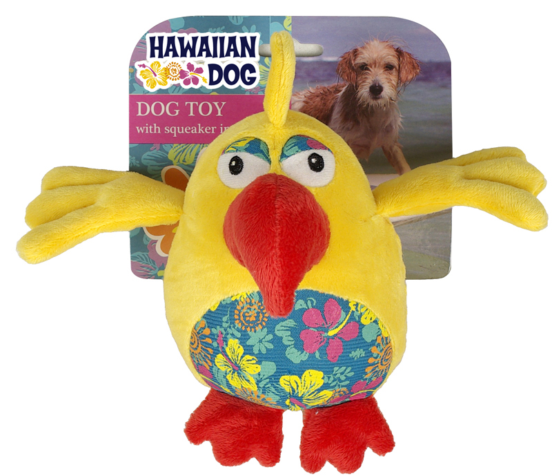 Hawaiian dog papegaaibal geel