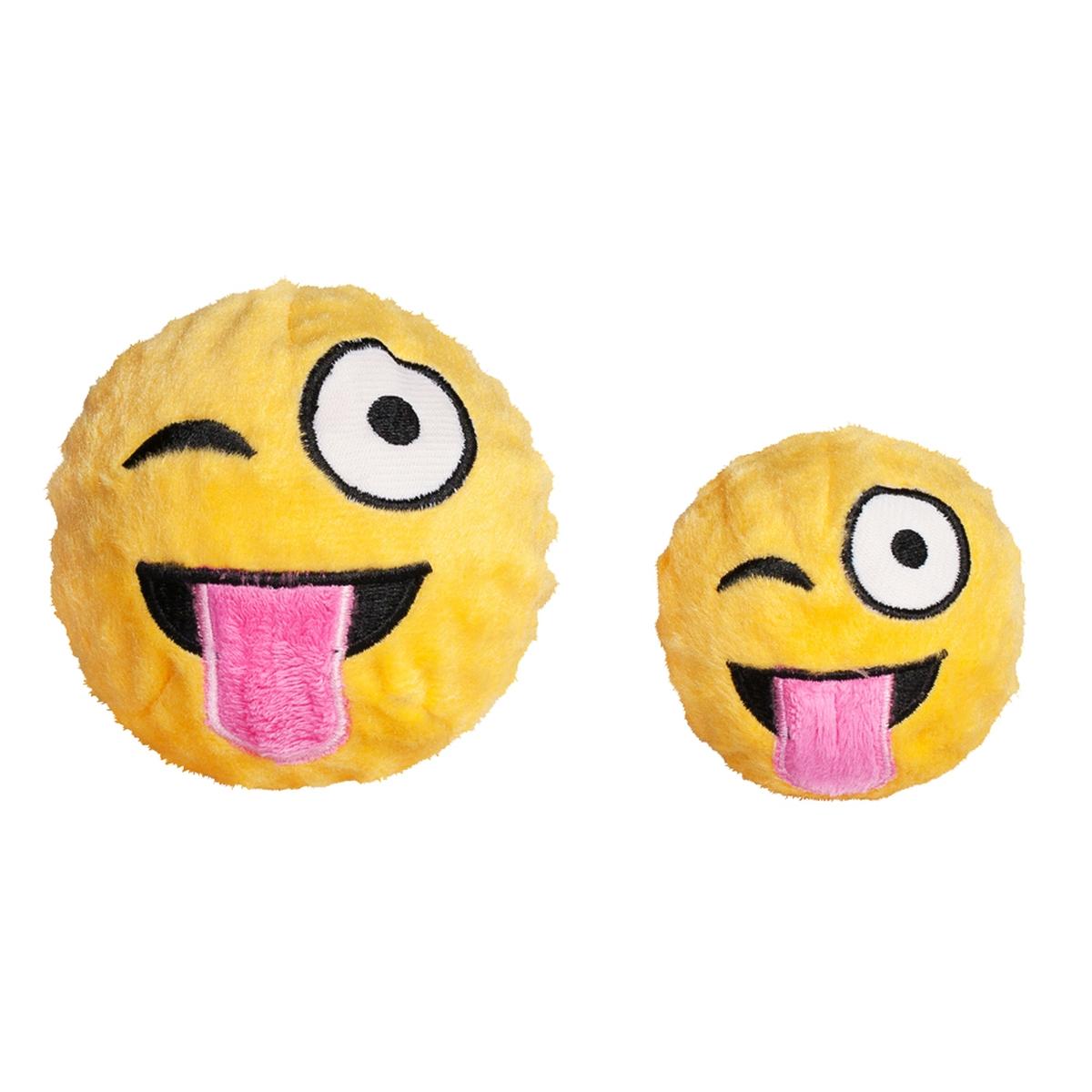 Wink emoji faball geel