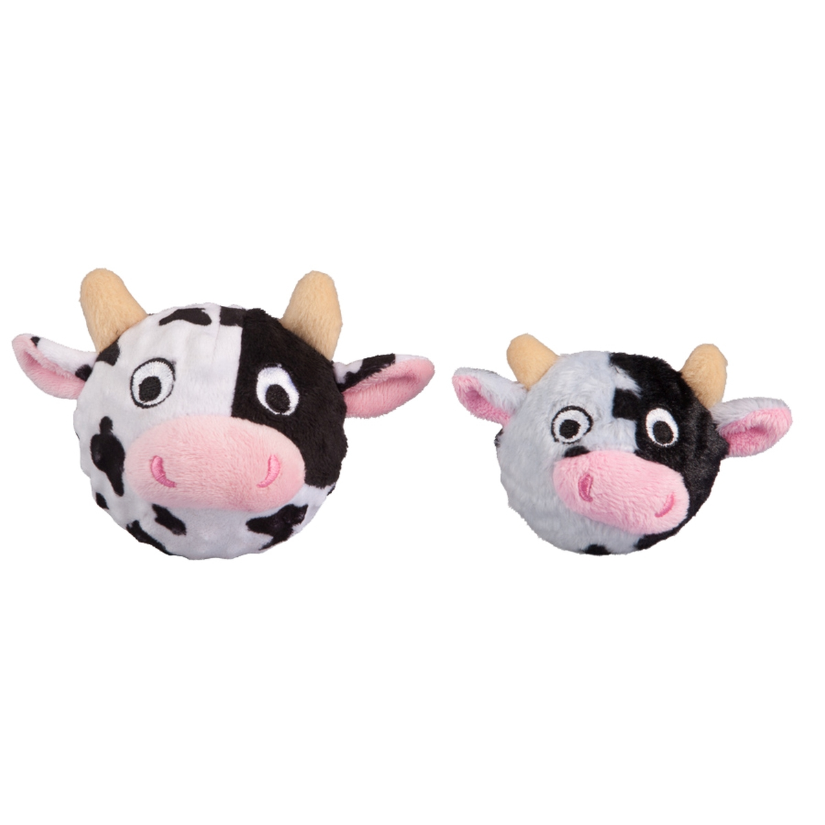 Cow faball zwart/wit