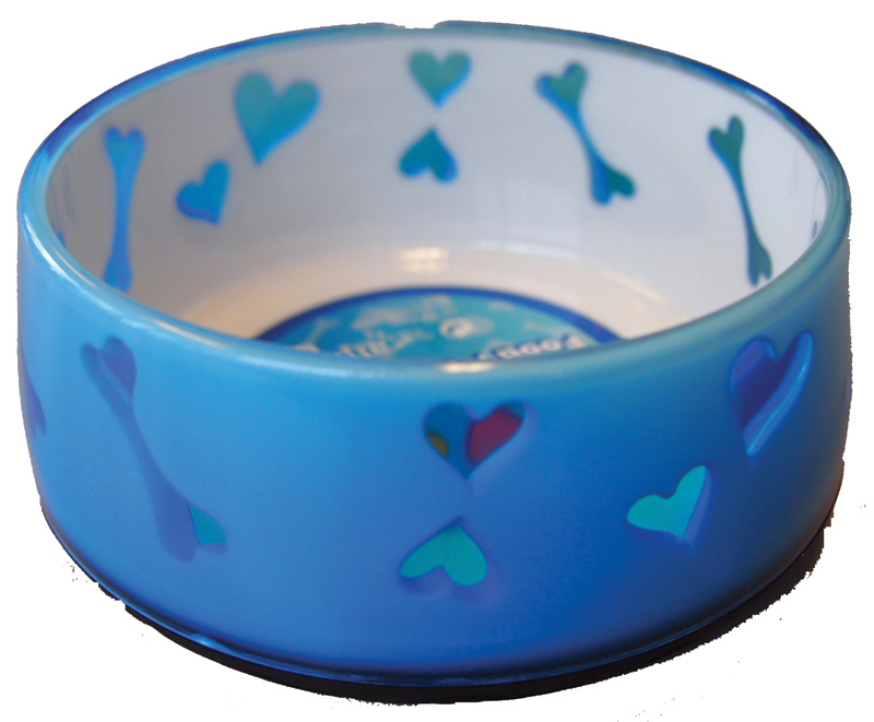 AFP PUPPY LOVE BOWL BLAUW S 00002