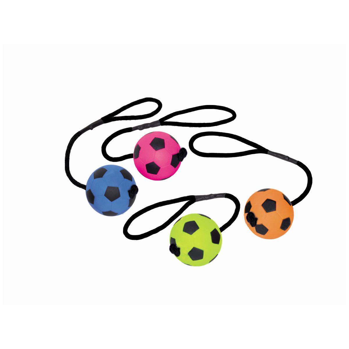 Fluor schuim voetbal en koord mix
