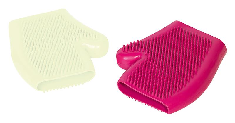 Rubber massage handschoen paars
