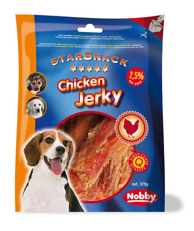 Chicken jerky steak 375 gr