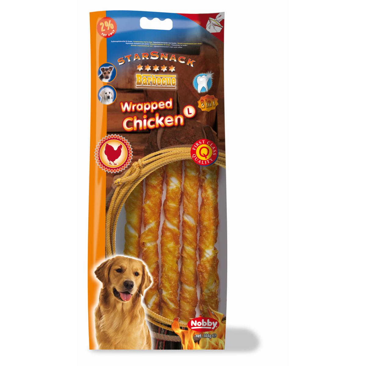 Chicken wrapped large 5 stuks