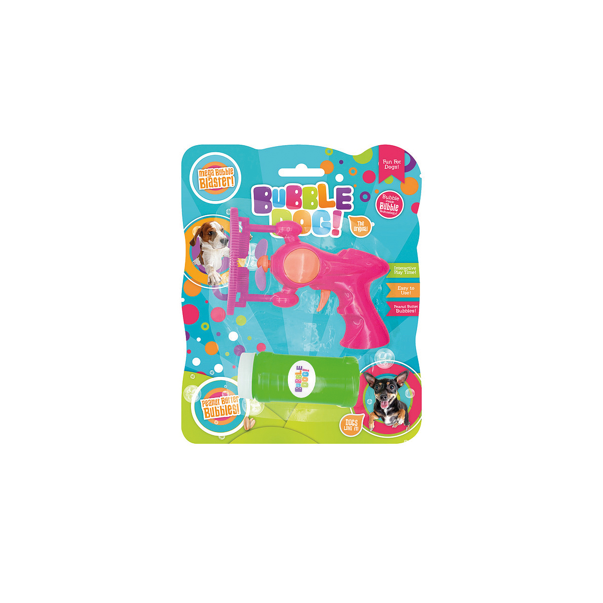 Productafbeelding voor 'Bubble dog big bubbles electric gun roze'