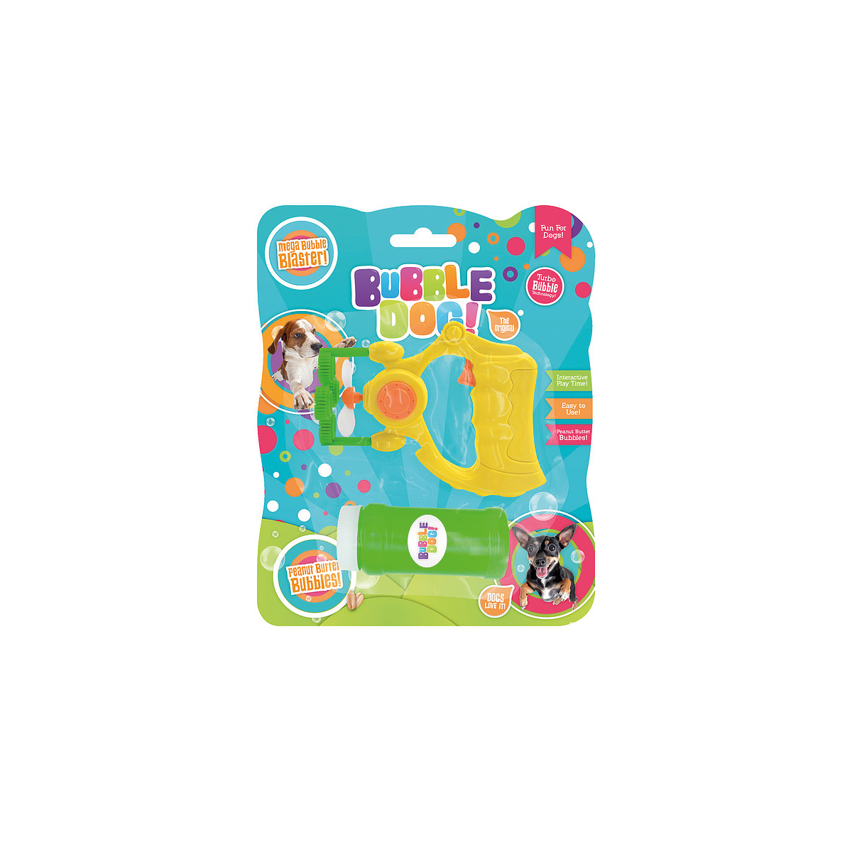 Bubble dog small bubbles electric gun geel
