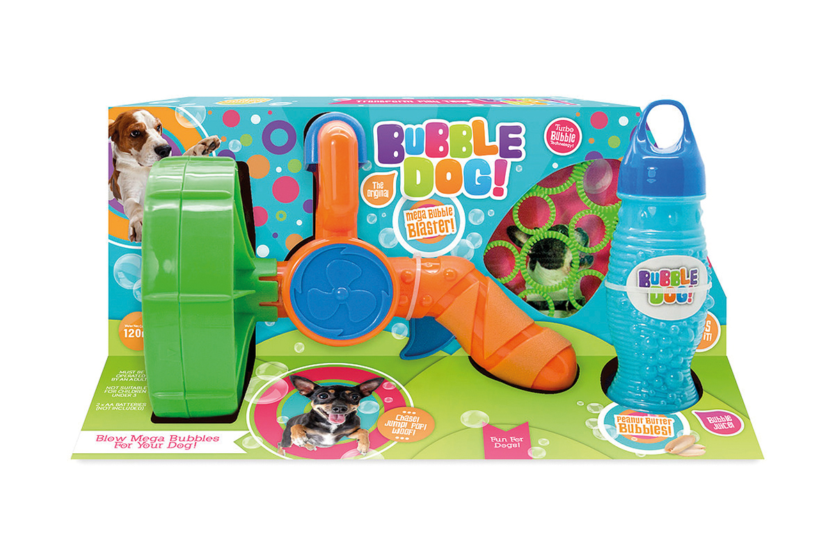 Productafbeelding voor 'Bubble dog super size bubbles electric gun meerkleurig'