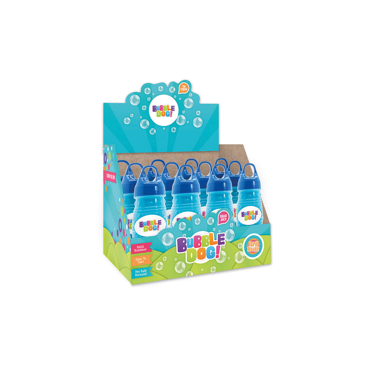 Bubble dog refill solution blauw 10 ml