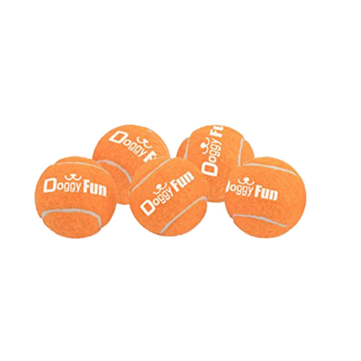 Doggy fun balls 5-pack oranje