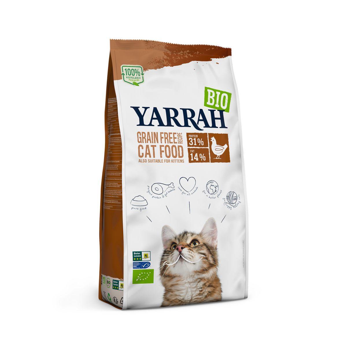Yarrah - organisch kattenvoer meerkleurig 800 gr