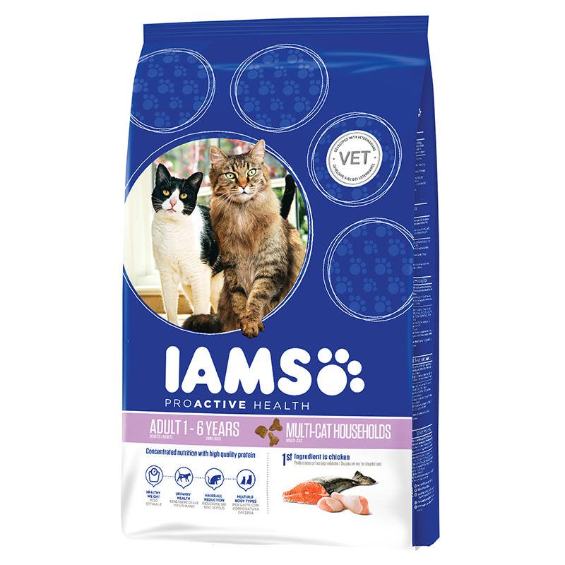 Iams - adult multi cat meerkleurig 15 kg