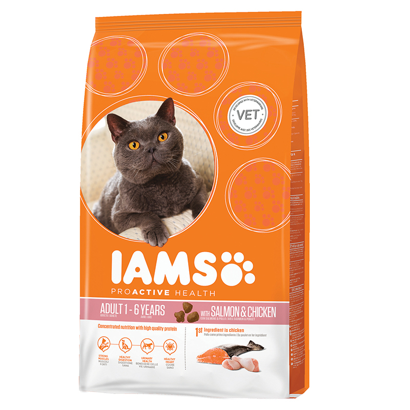 IA CAT ADULT SALMON&CHIC. 3KG 00001