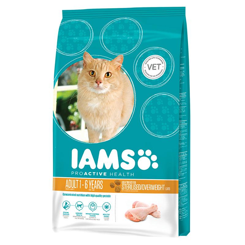 Iams - sterilised & overweight meerkleurig 2,55 kg