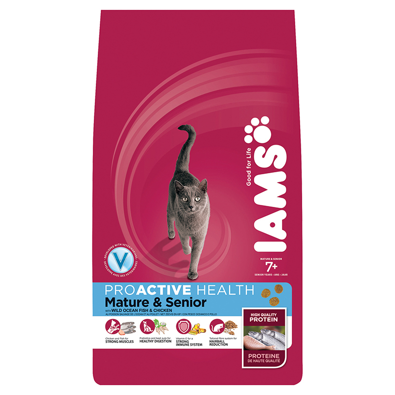Productafbeelding voor 'Iams - senior/mature oceanfish meerkleurig 2,55 kg'