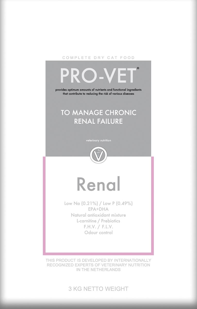 Pro-vet - renal meerkleurig 3 kg